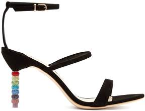 Sophia Webster Rosalind crystal embellished-heel suede sandals