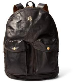Ralph Lauren Leather Mitchell Backpack Black One Size