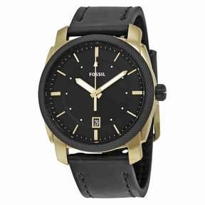 Fossil Men's Machine FS5263 Gold Leather Japanese Quartz Dress Watch