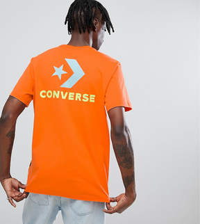 Converse T-Shirt With Back Print In Orange Exclusive To ASOS