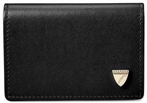 Aspinal of London Accordion Zipped Credit Card Holder In Smooth Black