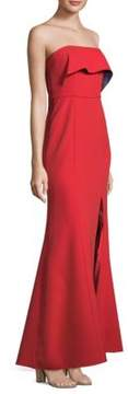 BCBGMAXAZRIA Strapless Popover Fit-and-Flare Gown