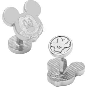 Head Disney's Mickey Mouse Silver Cuff Links
