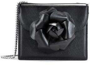 Oscar de la Renta Black Saffiano Mini TRO Bag