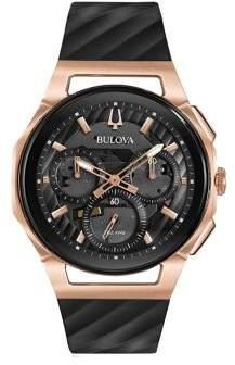 Bulova Curv Stainless Steel Strap Watch