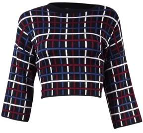 BCBGeneration Women's Multicolor Plaid Grid Sweater