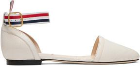 Thom Browne Off-White DOrsay Ballerina Flats