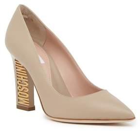 Moschino Leather Logo Heel Pump