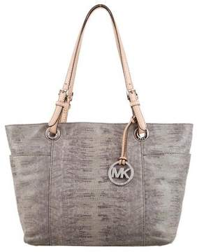 MICHAEL Michael Kors Embossed Suede Leather Tote