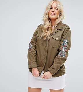 Alice & You Military Jacket With Dragon Arm Embroidery