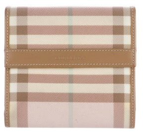 Burberry Canvas Nova Check Wallet - PINK - STYLE