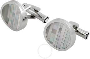Montblanc Steel with Mother of Pearl Inlay Cuff Links