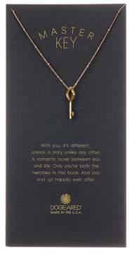 Dogeared 14K Yellow Gold Vermeil 'Master Key' Beaded Vintage Key Pendant Necklace