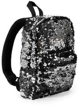 BuySeasons Women's Sequin Mini Backpack Handbag - Black/Silver