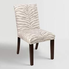 World Market Tropo Cloud Zebra Stripe Kerri Upholstered Dining Chair