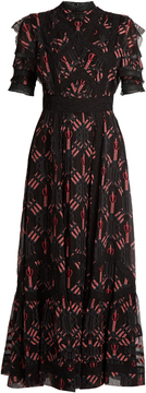 VALENTINO Love Blade-print silk-chiffon gown