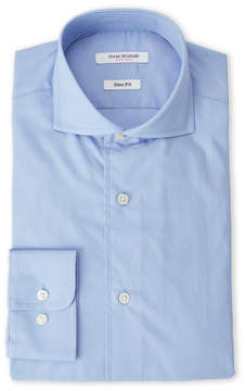 Isaac Mizrahi Ice Blue Slim Fit Broadcloth Dress Shirt