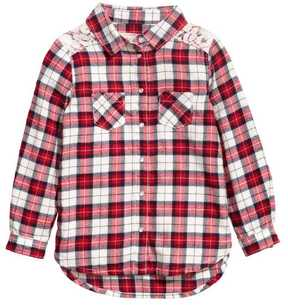 H&M Flannel Shirt with Lace Yoke
