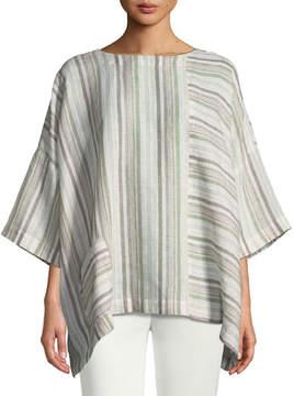 eskandar Mixed-Stripe Linen T-Shirt