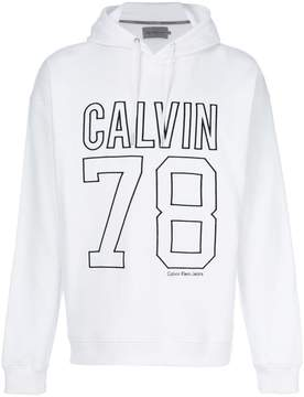 Calvin Klein Jeans embroidered logo hoodie