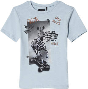 Ikks Blue Zebra and Giraffe T-Shirt