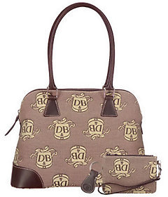 Dooney & Bourke As Is Dooney& BourkeDonegalCr estDomed Satche l w/Accessories - ONE COLOR - STYLE