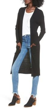 BP Women's Rib Knit Midi Cardigan