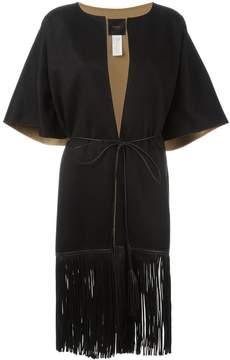 Agnona fringed short sleeve coat