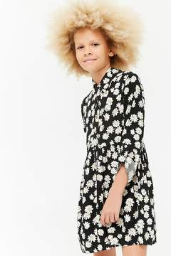 Forever 21 Girls Daisy Print Dress (Kids)