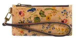 Patricia Nash Almeria Prairie Rose Leather Credit Card Wristlet