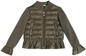 Moncler Quilted Nylon & Cotton Sweatshirt