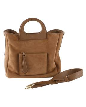 Max Mara Suede Top Handle Bag