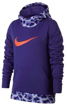 Nike Big Girls' (7-16) Dri-Fit Therma Pullover Hoodie-Court Purple