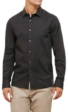 Kenneth Cole New York Reaction Kenneth Cole Long-Sleeve Solid Stretch Shirt - Men's