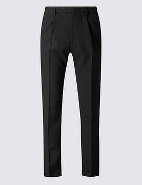 Marks and Spencer Big & Tall Regular Single Pleated Trousers
