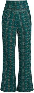 Ace&Jig Dancin embroidered wide-leg cotton-blend trousers