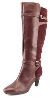 Lauren Ralph Lauren Sabeen Wide Calf Pointed Toe Leather Knee High Boot.