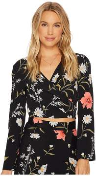 Flynn Skye Bell Long Sleeve That's A Wrap Crop Top Women's Clothing