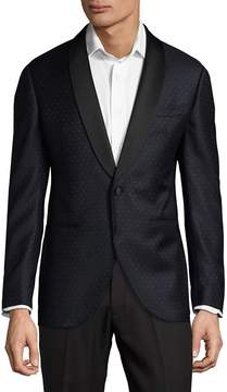 Lubiam Men's Wool Polka Dot Dinner Jacket