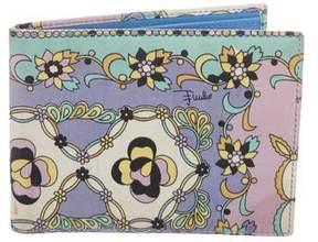 Emilio Pucci Leather Floral Wallet