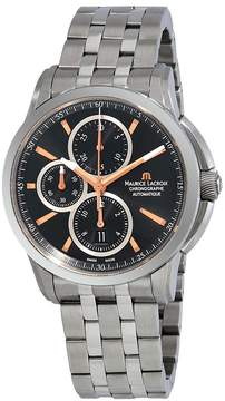 Maurice Lacroix Pontos Automatic Chronograph Black Dial Automatic Men's Stainless Steel Watch