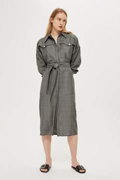 Boutique **check coat dress