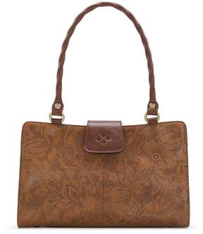 Patricia Nash Napa Etched Floral Collection Rienzo Satchel