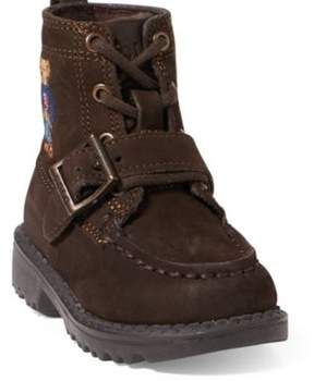 Ralph Lauren Ranger Polo Bear Suede Boot Brown 5