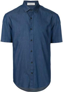 Cerruti short-sleeve denim shirt