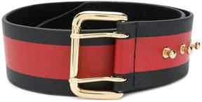B-Low the Belt striped buckle fastened belt
