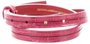 Oscar de la Renta Alligator Skin Waist Belt