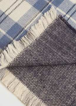 Mango Outlet Check knit scarf