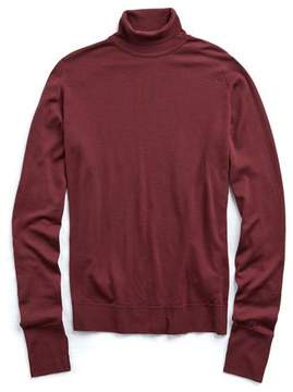 John Smedley Sweaters Easy Fit Turtleneck in Maroon