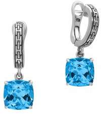 Effy Topaz and 0.925 Sterling Silver Drop Earrings